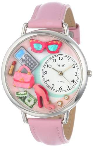 Whimsical Watches Unisex-Armbanduhr Analog Quarz Leder U-1010008