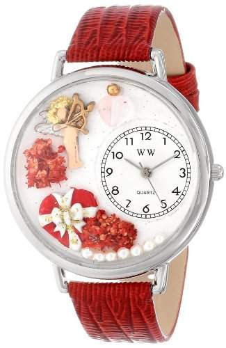 Whimsical Watches Unisex-Armbanduhr Analog Quarz Leder U-1220033