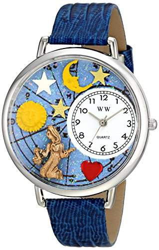 Whimsical Watches Unisex-Armbanduhr Analog Quarz Leder U-1810002