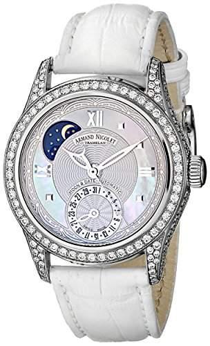 Armand Nicolet M03 Moon & Date Edelstahl mit Diamanten 9151V-AN-P915BC8