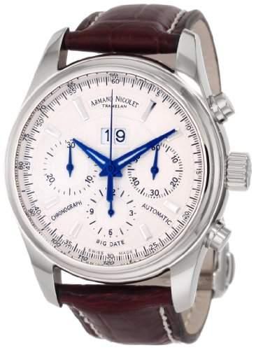 Armand Nicolet M02 Big Date & Chronograph Automatic 9648A-AG-P961MR2