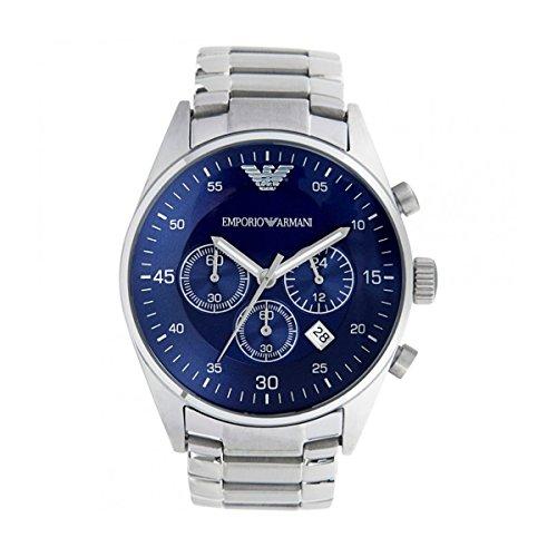 Herren EMPORIO ARMANI AR5860 Quarz blau Zifferblatt Edelstahl Armbanduhr