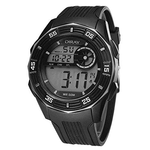 Feoya Schule Unisex Maedchen Uhr Sport Alltagsleben Wasserdichte Studenten Uhren Elekronische Digitaluhr Students Digital Watch Silber