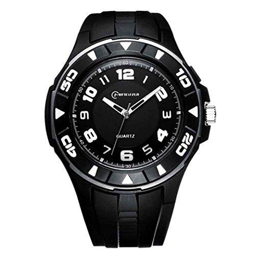 Feoya Schule Jungen Uhr Brillant Sport Armbanduhr Alltagsleben Wasserdichte Studenten Uhren Elekronische Quarzuhr Students Quartz Watch Schwarz