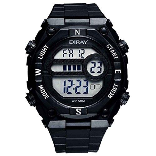 Feoya Student Jungen Uhr Multifunktions Sport Armbanduhr Alltagsleben Wasserdichte Schueler Uhren Elekronische Digitaluhr Students Digital Watch Schwarz