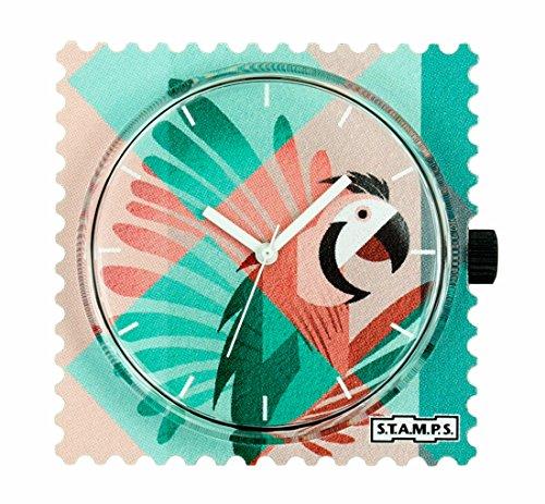 Stamps S T A M P S Uhr Zifferblatt Pink Parrot 104303