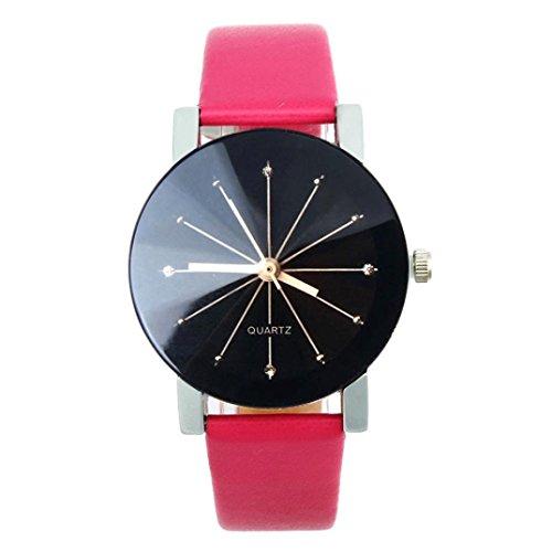 FEITONG Quarzuhr Armbanduhr Elegant Uhr Modisch Zeitloses Design Klassisch Leder Heisses Rosa