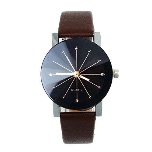 FEITONG Quarzuhr Armbanduhr Elegant Uhr Modisch Zeitloses Design Klassisch Leder Kaffee 1