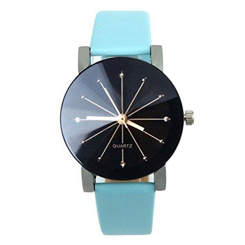 FEITONG Quarzuhr Armbanduhr Elegant Uhr Modisch Zeitloses Design Klassisch Leder Blau