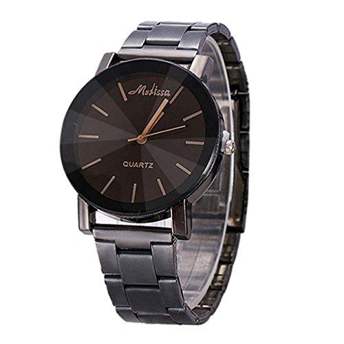 FEITONG Quarzuhr Armbanduhr Elegant Uhr Modisch Zeitloses Design Klassisch Edelstahl Schwarz 1