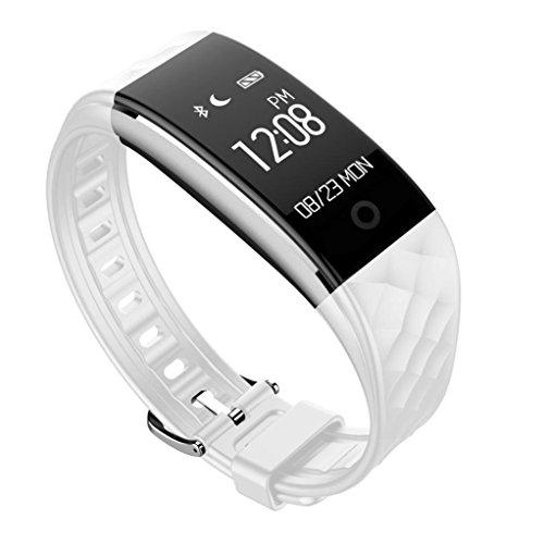 FEITONG Bluetooth 4 0 LED wasserdichte intelligente Armbanduhr Armband Sport Uhren Weiss