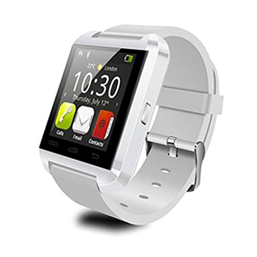 FEITONG Bluetooth 4 0 Smart Armbanduhr Watch Telefon Mate Touch Screen fuer Android Handy Weiss