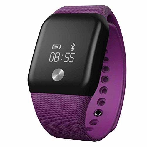 FEITONG A88 Watch Bluetooth Herzfrequenzmesser Blut Sauerstoffmonitor Smart Wristband Lila