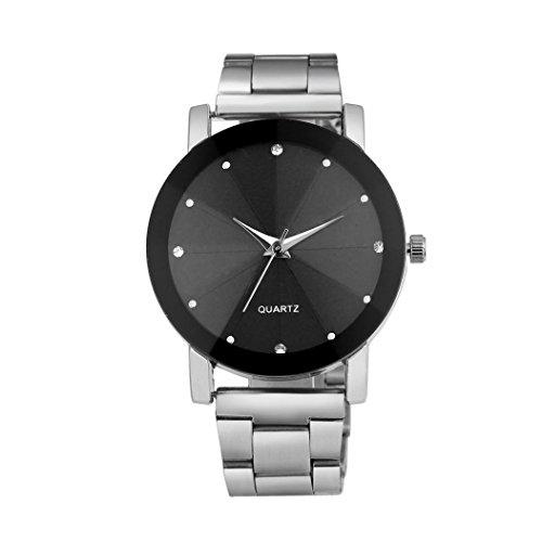 FEITONG Luxus Quarz Sport Edelstahl Zifferblatt Armbanduhr Silber