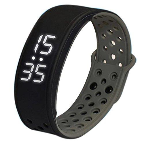 FEITONG W9 Sport Fitness Tracker Schrittzaehler Smart Watch Wasserdicht Armband Grau
