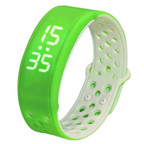 FEITONG W9 Sport Fitness Tracker Schrittzaehler Smart Watch Wasserdicht Armband Gruen Weiss