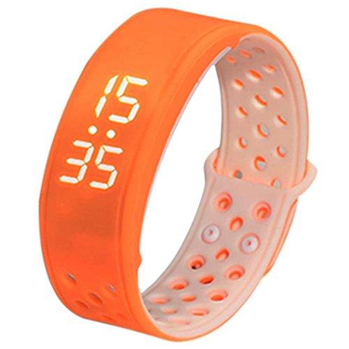 FEITONG W9 Sport Fitness Tracker Schrittzaehler Smart Watch Wasserdicht Armband Orange