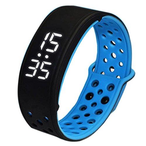 FEITONG W9 Sport Fitness Tracker Schrittzaehler Smart Watch Wasserdicht Armband Schwarz Blau