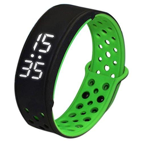 FEITONG W9 Sport Fitness Tracker Schrittzaehler Smart Watch Wasserdicht Armband Schwarz Gruen