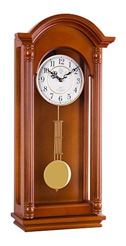 20123 Pendeluhr aus Holz Wanduhr mit Bewegung Quarz Klingelton wenstminster