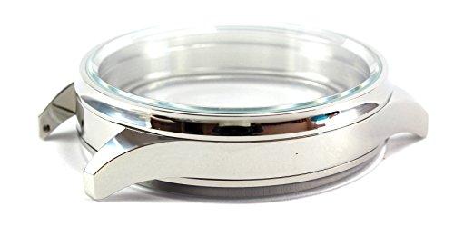 Edelstahl 49 mm Uhrengehaeuse zum Einbau von Taschenuhrwerken Mariageuhr Case for Mariage watches fuer 38 42 mm Werkdurchmesser Fuer z B NARDIN JWC MOSER poliert