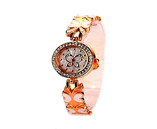 Schmetterlingsdesignuhr Rotgold Girlswatch