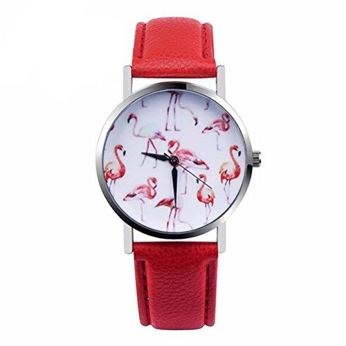Sunnywill Frauen Maedchen Damen Schoene Mode Design PU Leder Analog Quarz Vogue Armbanduhr fuer Weibliche