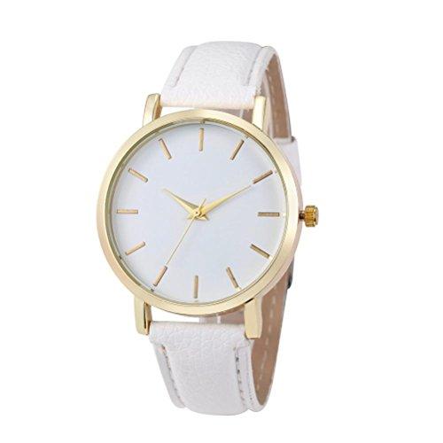 Sunnywill Frauen Maedchen Damen Schoene Mode Design Gold PU Leder Band Armbanduhren fuer Weibliche
