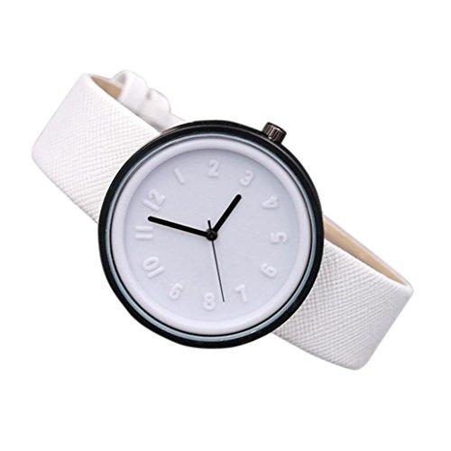 Sunnywill Frauen Maedchen Damen Schoene Mode Design Einfache Zahl Canvas Armbanduhr fuer Weibliche