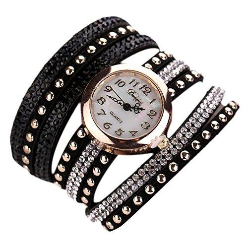 Sunnywill Frauen Maedchen Damen Schoene Mode Design Laessige PU Leder Armbanduhr fuer Weibliche