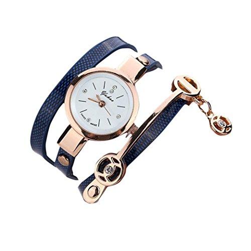 Sunnywill Modische Damen Metall Strap Armbanduhr Blau