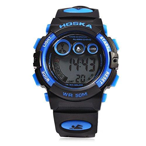 Leopard Shop hoska h002s Kid Sport digitale Armbanduhr mit Tag Chronograph LED Licht Armbanduhr Wasser Widerstand blau schwarz