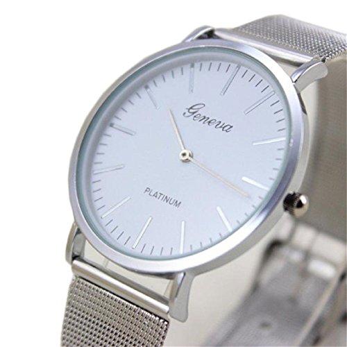 Vovotrade HOT Damenmode Uhr Edelstahl Band analoge Silber