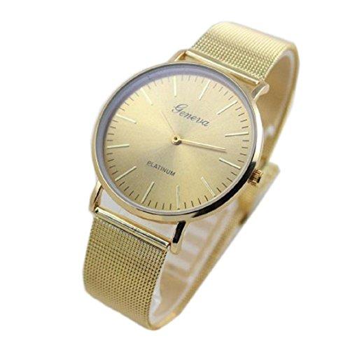 Vovotrade HOT Damenmode Uhr Edelstahl Band analoge Gold