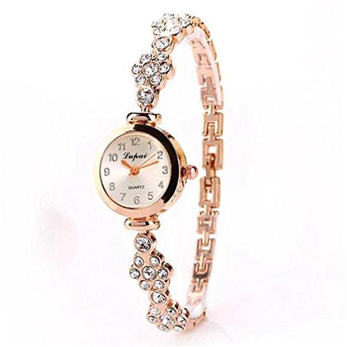 Vovotrade LVPAI Uhren Damen Diamant Armband Formel Alloy Quartz Gold