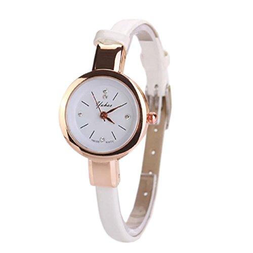 Vovotrade Fashion Frauen Dame Runde Quarz Analog Armband Armbanduhr Uhr Geschenk Weiss