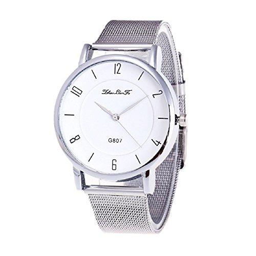 Vovotrade grosses Geschenk Mode Luxus Frauen Edelstahl Quarz Gitterband Armbanduhr