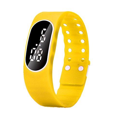 Vovotrade Uhr Datum Sport Armband der Maenner Gelb