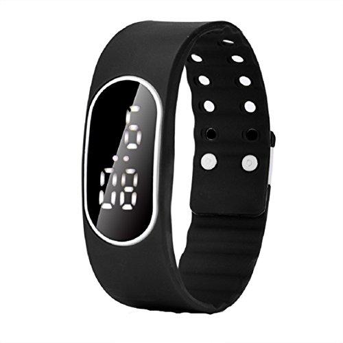 Vovotrade Uhr Datum Sport Armband der Maenner Schwarz