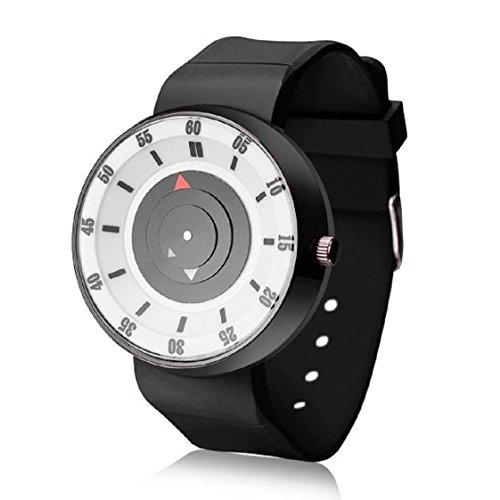 Vovotrde Mode fuer Maenner Luxus Konzept Edelstahl analoge Quarz Sport Armbanduhr Weiss
