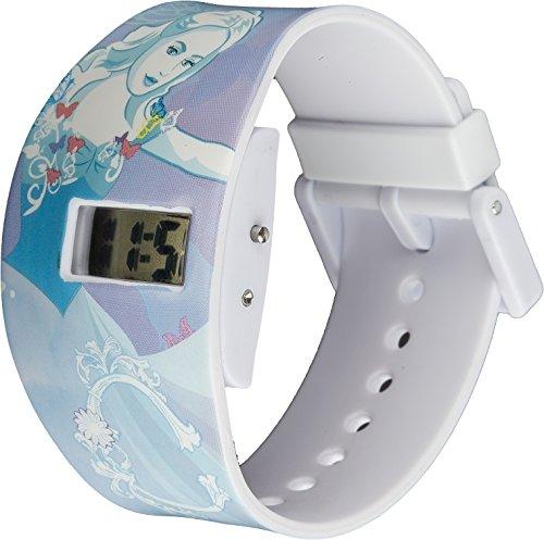 Disney Prinzessin Cinderella Kinder Digital Uhr mit Zifferblatt Digital Display und Blau Kunststoff Gurt DPC1