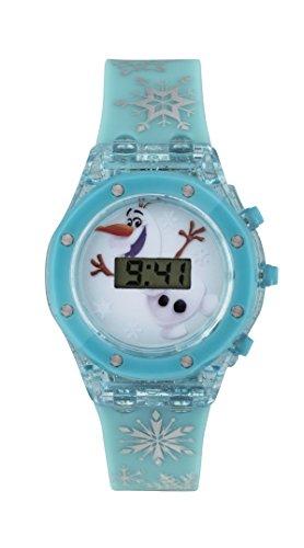 Frozen Maedchen Armbanduhr mit Digitalem Zifferblatt und Blauem Silikonarmband FZN3799