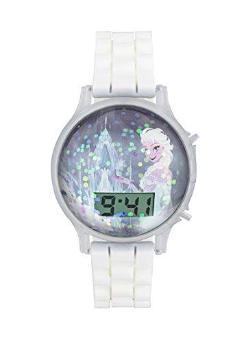 Frozen Kinder Armbanduhr mit Digitalem Zifferblatt und Weissem Silikonarmband fzn3649