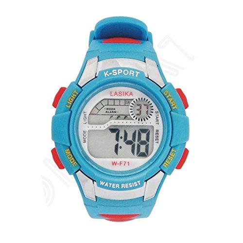 W F71 Armbanduhr Lasika Kind Kind Schwimmen Sport Digital Armbanduhr w F71 30M wasserdichte blau