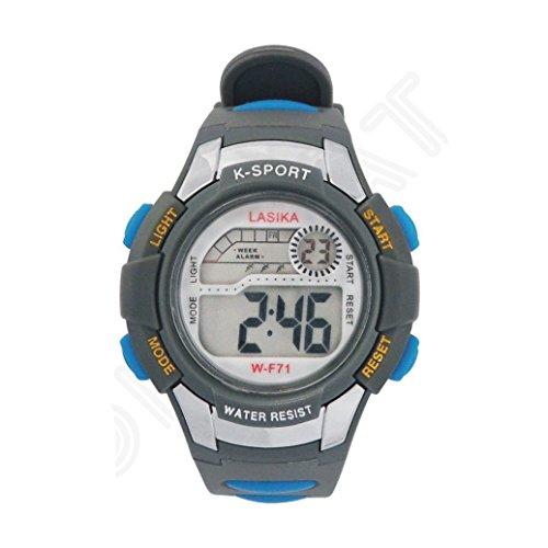 W F71 Armbanduhr Lasika Kind Kind Schwimmen Sport Digital Armbanduhr w F71 30M wasserdichte grau