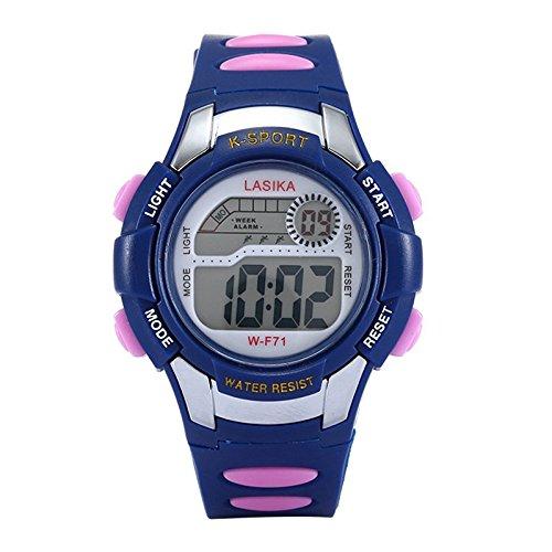 W F71 Armbanduhr Lasika Kind Kind Schwimmen Sport Digital Armbanduhr w F71 30M wasserdichte Dunkelblau