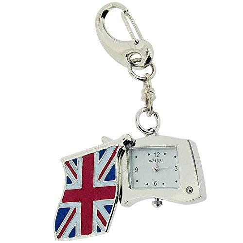 GTP Unisex Novelty Mini Union Jack Flaggen Schluesselringuhr IMP745