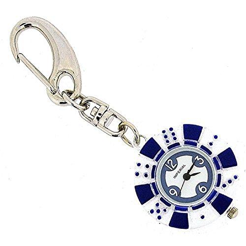 GTP unisex blauer 10 Pokerchip Uhrschluesselring IMP748B