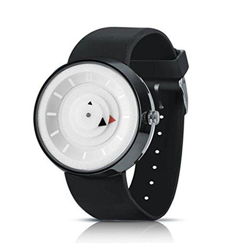 Damen Herren Mode einfach Dreieckblatt Zeifer analog Quarz Armbanduhr