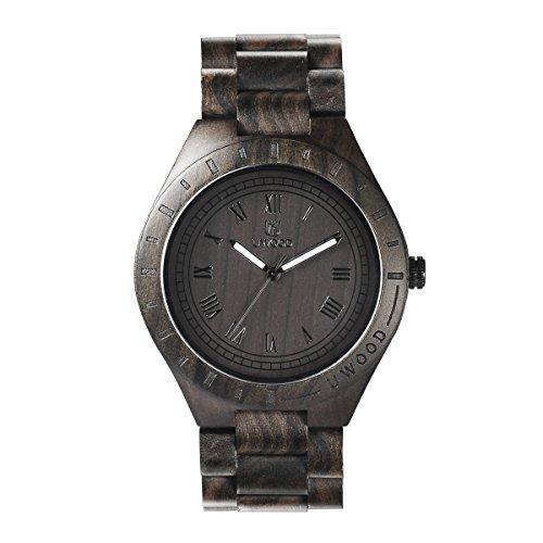 XY Fancy Herren Holz Quarz Lichtzeiger Armbanduhr Sandelholz Uhr Geschenk Schwarz